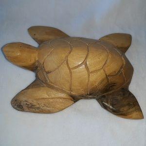 Hand Carved Sea Turtle Wood Aloha Maui Hawaii Home